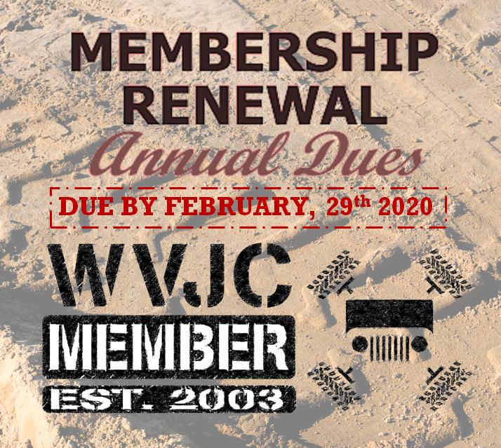 Membership Dues DEADLINE