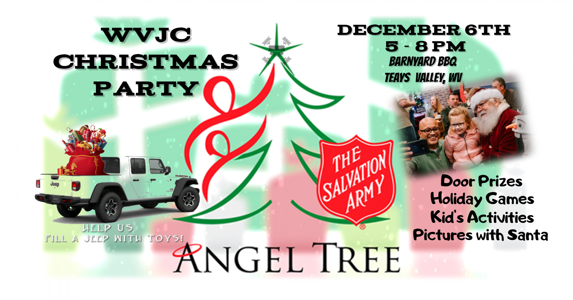 WVJC Christmas Party - Charity Event @ Barnyard BBQ, Teays Valley, WV