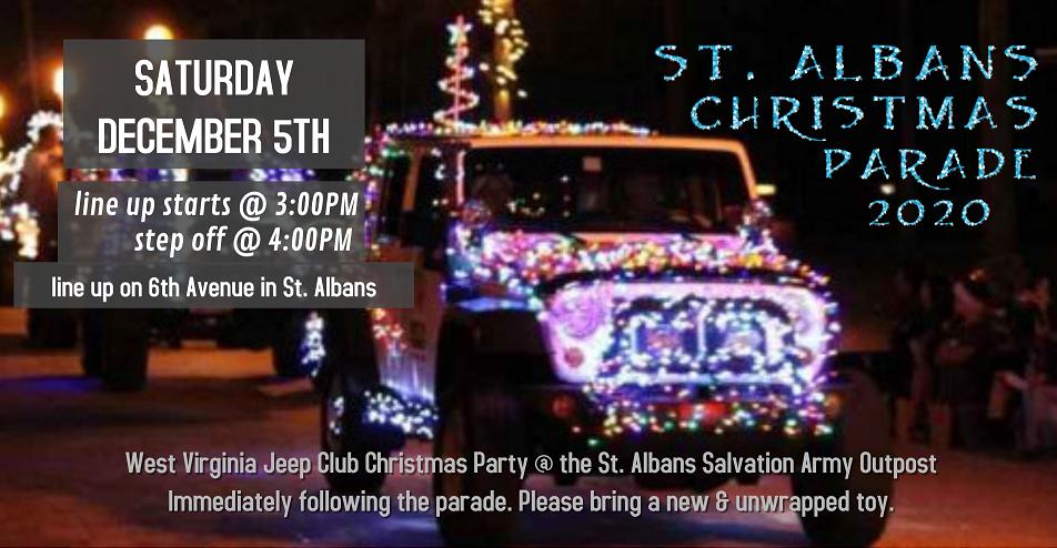 St. Albans Christmas Parade 2020 @ Sixth Avenue
